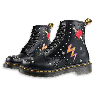 topánky Dr. Martens - 8 dierkové - 1460 smooth - black, Dr. Martens