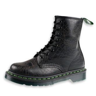topánky Dr. Martens - 8 dierkové - 1460 Black - Skull Web Smooth, Dr. Martens