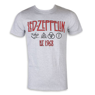 tričko pánske Led Zeppelin - Symbols Est 68 Sports Grey, NNM, Led Zeppelin