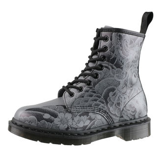 topánky Dr. Martens - 8 dierkové - 1460 ot Tattoo - Black/Gunmetal