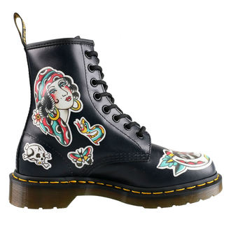 topánky Dr. Martens - 8 dierkové - 1460 - Chris Lambert - Black / Multi, Dr. Martens