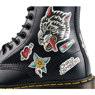 topánky Dr. Martens - 8 dierkové - 1460 - Chris Lambert - Black / Multi