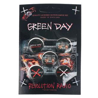 odznaky Green Day - Revolution Radio - RAZAMATAZ, RAZAMATAZ, Green Day
