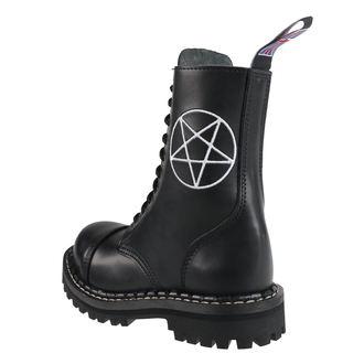 topánky STEADY´S - 10 dierkové  - Pentagram white, STEADY´S