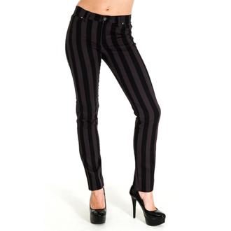 nohavice pánske 3RDAND56th - Stripe Skinny - Blk / Grey, 3RDAND56th