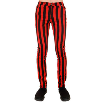 nohavice pánske 3RDAND56th - Stripe Skinny - Blk/Red, 3RDAND56th
