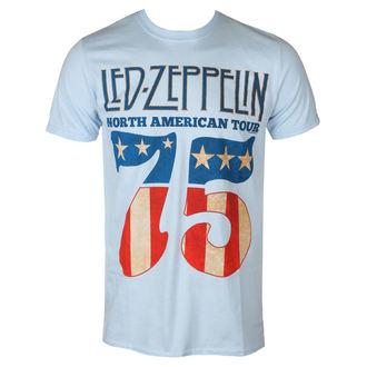 tričko pánske Led Zeppelin - 1975 North American Tour - Blue, NNM, Led Zeppelin