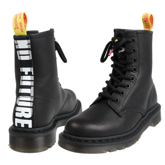 topánky DR.MARTENS - 8 dierkové - Sex Pistols - milled Grease+ BACKHAND - Black, Dr. Martens, Sex Pistols