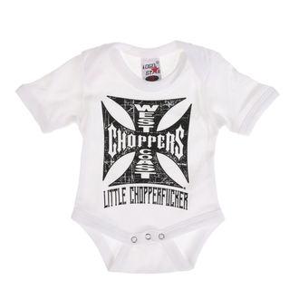 body detské WEST COAST CHOPPERS - ONESIE LITTLE CHOPPERFUCKER BABY CREEPER - White, West Coast Choppers