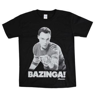tričko detské Teorie velkého třesku - Sheldon Says bazinga! - Black - HYBRIS, HYBRIS, Teorie velkého třesku