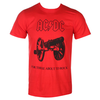 tričko pánske AC/DC - For Those about to rock - red - LOW FREQUENCY, LOW FREQUENCY, AC-DC