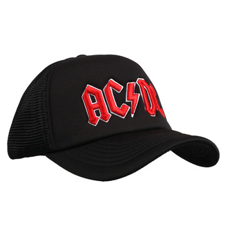 šiltovka AC/DC - Red Logo Black - ROCK OFF, ROCK OFF, AC-DC