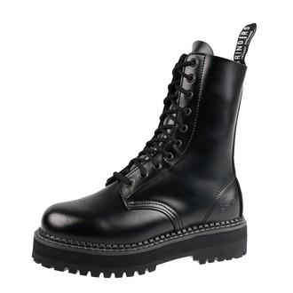 topánky GRINDERS - 10dírkové - TAYLOR - BLACK, GRINDERS