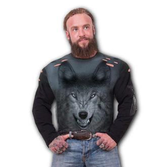 tričko pánske s dlhým rukávom SPIRAL - SHADOW WOLF, SPIRAL
