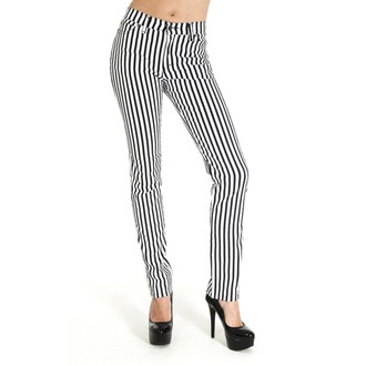 nohavice (unisex) 3RDAND56th - Striped Skinny - BLK/WHT, 3RDAND56th