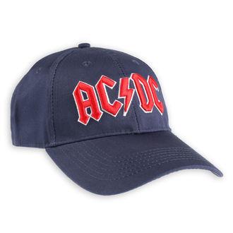 šiltovka AC/DC - Red Logo Navy - ROCK OFF, ROCK OFF, AC-DC
