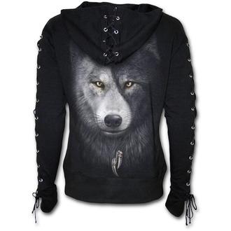 mikina dámska SPIRAL - WOLF CHI - Black, SPIRAL