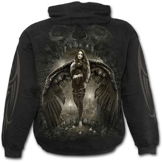mikina pánska SPIRAL - DARK ANGEL - Black, SPIRAL