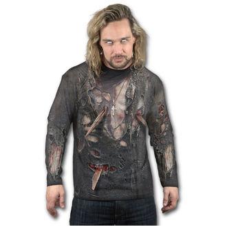 tričko pánske s dlhým rukávom SPIRAL - ZOMBIE WRAP - Black, SPIRAL