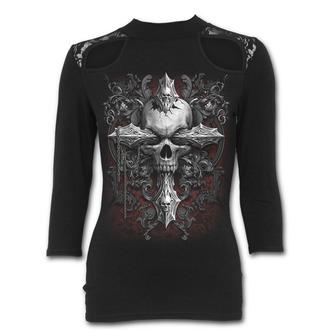 tričko dámske s 3/4 rukávom SPIRAL - CROSS OF DARKNESS, SPIRAL