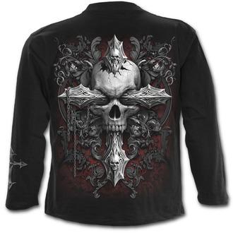 tričko pánske s dlhým rukávom SPIRAL - CROSS OF DARKNESS - Black, SPIRAL