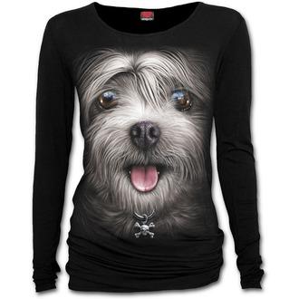 tričko dámske s dlhým rukávom SPIRAL - MISTY EYES - Baggy Top Black, SPIRAL