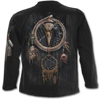 tričko pánske s dlhým rukávom SPIRAL - VOODOO CATCHER - Black - K050M301
