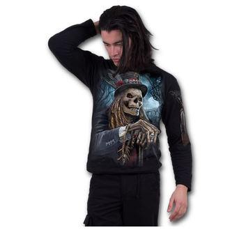 tričko pánske s dlhým rukávom SPIRAL - VOODOO CATCHER - Black