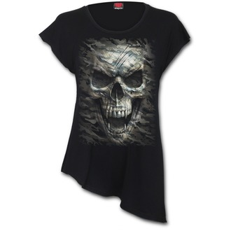 tričko dámske (tunika) SPIRAL - CAMO-SKULL, SPIRAL