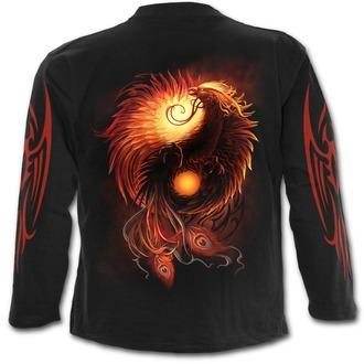 tričko pánske s dlhým rukávom SPIRAL - PHOENIX ARISEN - Black