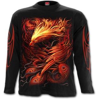tričko pánske s dlhým rukávom SPIRAL - PHOENIX ARISEN - Black, SPIRAL
