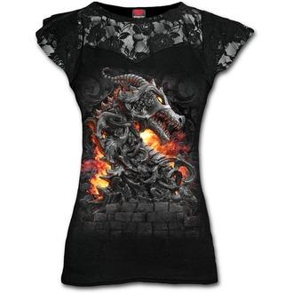 tričko dámske SPIRAL - KEEPER OF THE FORTRESS - Black, SPIRAL
