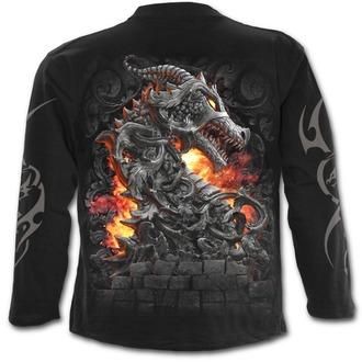 tričko pánske s dlhým rukávom SPIRAL - KEEPER OF THE FORTRESS - Black