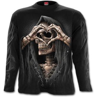 tričko pánske s dlhým rukávom SPIRAL - DARK LOVE - Black, SPIRAL