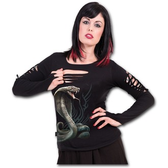 tričko dámske s dlhým rukávom SPIRAL - SERPENT TATTOO, SPIRAL