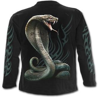 tričko pánske s dlhým rukávom SPIRAL - SERPENT TATTOO - Black - T149M301