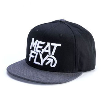 šiltovka MEATFLY - MOTION SNAPBACK D - BLACK / DARK HEATHER, MEATFLY