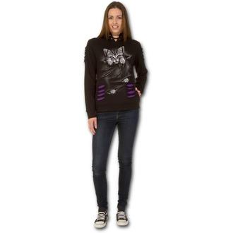 mikina dámska SPIRAL - BRIGHT EYES - Purple-Black