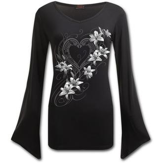 tričko dámske s dlhým rukávom SPIRAL - PURE OF HEART - Black, SPIRAL
