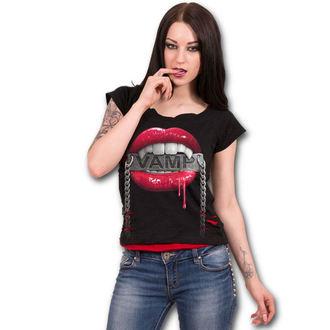 tričko dámske SPIRAL - FANGS - Black, SPIRAL