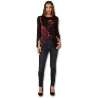 tričko dámske s dlhým rukávom SPIRAL - ROSE SLANT - Blood Rose, SPIRAL