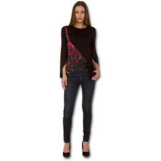 tričko dámske s dlhým rukávom SPIRAL - GOTHIC ELEGANCE - Blood Rose, SPIRAL