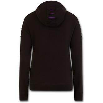 mikina dámska SPIRAL - WOLF ROSES - Purple-Black, SPIRAL