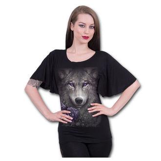 tričko dámske SPIRAL - WOLF ROSES - Black, SPIRAL