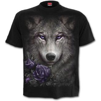 tričko pánske SPIRAL - WOLF ROSES - Black, SPIRAL