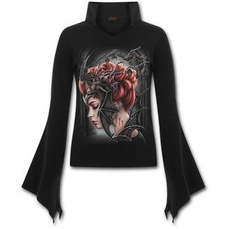 tričko dámske s dlhým rukávom SPIRAL - QUEEN OF THE NIGHT - Black, SPIRAL