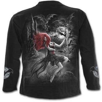tričko pánske s dlhým rukávom SPIRAL - QUEEN OF THE NIGHT - Black, SPIRAL