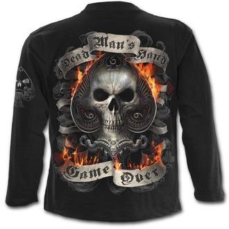 tričko pánske s dlhým rukávom SPIRAL - ACE REAPER - Black, SPIRAL
