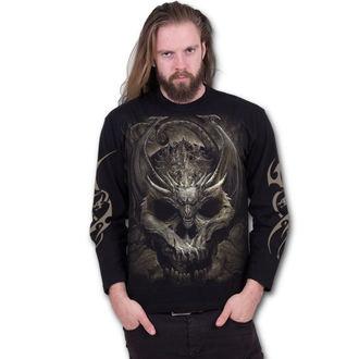 tričko pánske s dlhým rukávom SPIRAL - DRACO SKULL - Black, SPIRAL