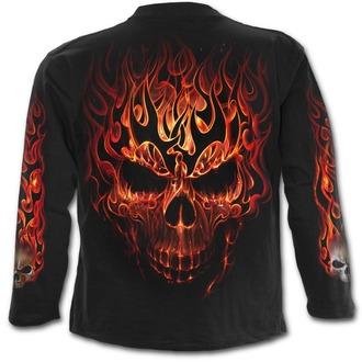 tričko pánske s dlhým rukávom SPIRAL - SKULL BLAST - Black, SPIRAL